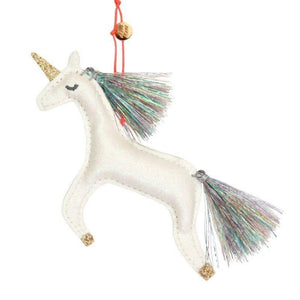 Meri Meri Unicorn Glitter Fabric Tree Decoration