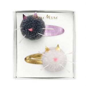 Meri Meri Cat Pompom Hair Clips