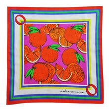 "Load image into Gallery viewer, Jessica Russell Flint ""O for Oranges"" Handkerchief"