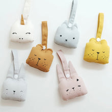 Load image into Gallery viewer, Fabelab Ice Grey Bunny Animal Rattle