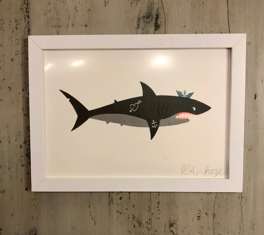 Petra Boase Framed Shark Print