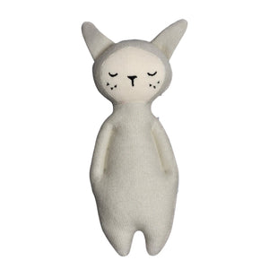 Fabelab Soft Bunny Rattle Light Grey