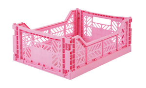 Baby Pink Folding Crate