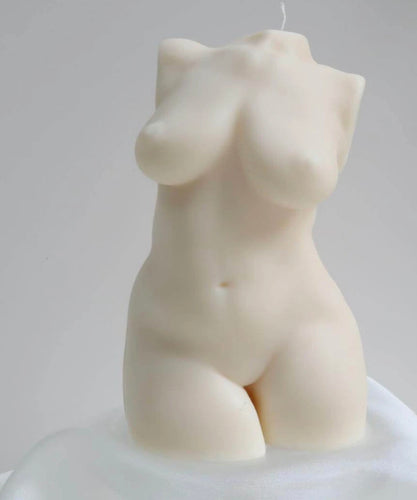Female Figure Candle Porcelain