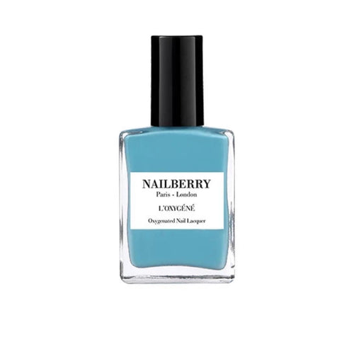 Nailberry 'Santorini' Turquoise Nail Varnish