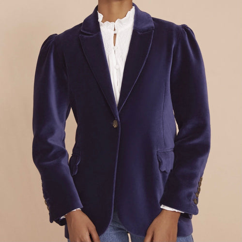 Seraphina London The Tux Navy Blue Cotton Jacket