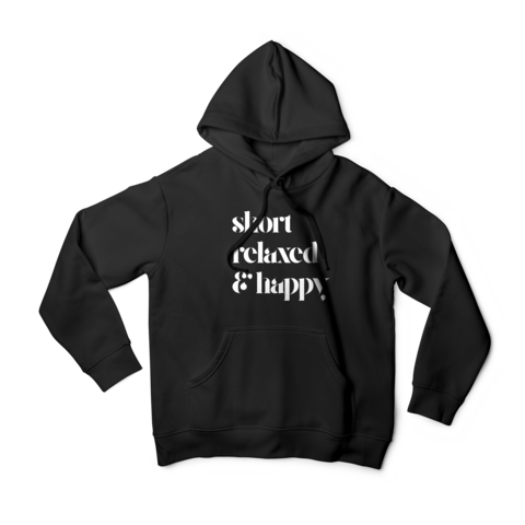 SHORT, RELAXED & HAPPY HOODIE SWEATSHIRT - TheHaiRazor