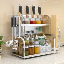 Load image into Gallery viewer, stainless steel kitchen shelf storage