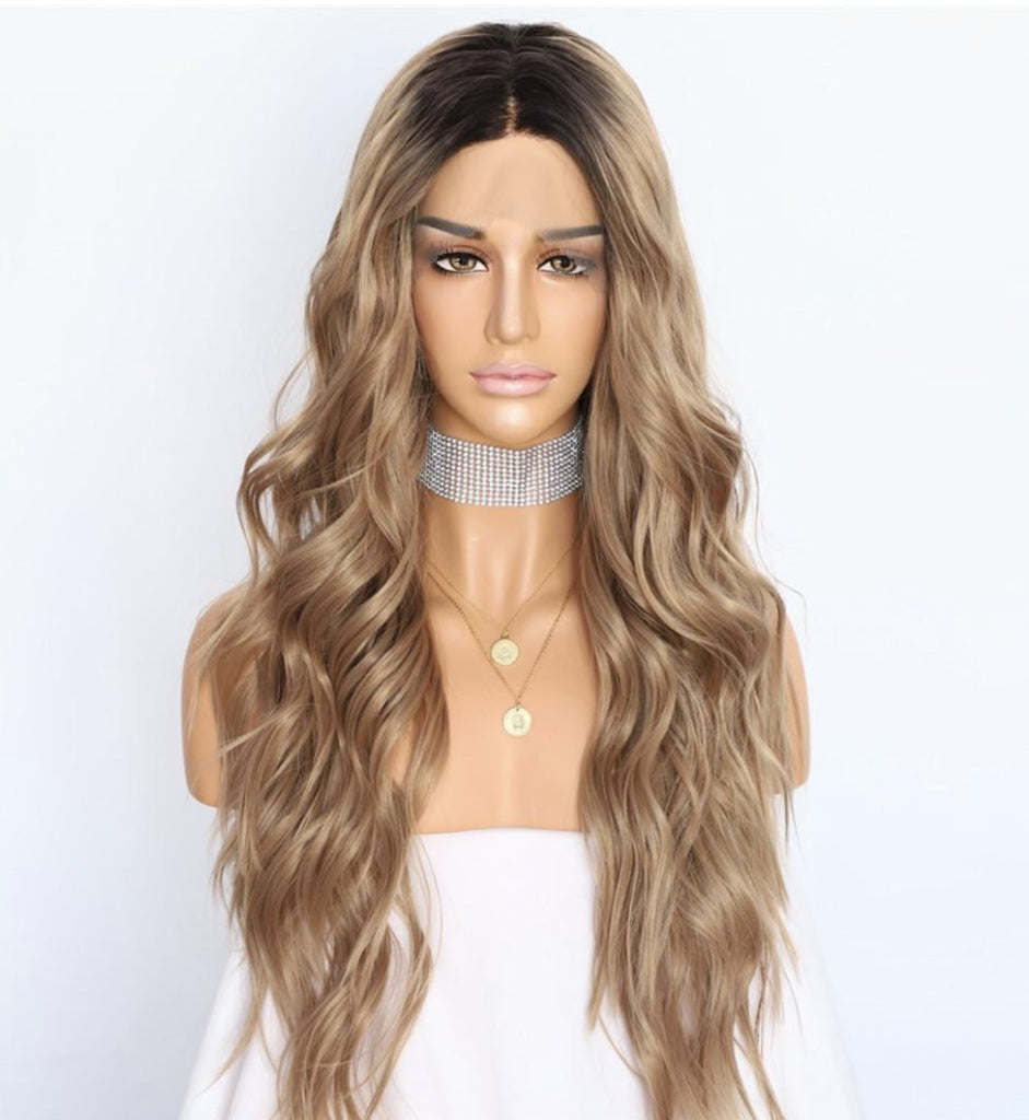 Load image into Gallery viewer, Armani Synthetic Lace Front Wig 24""