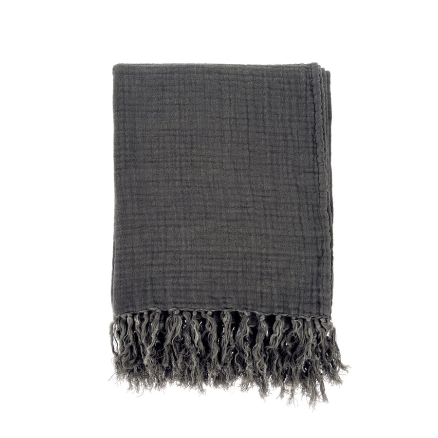 Linen Tassel Throw Blanket