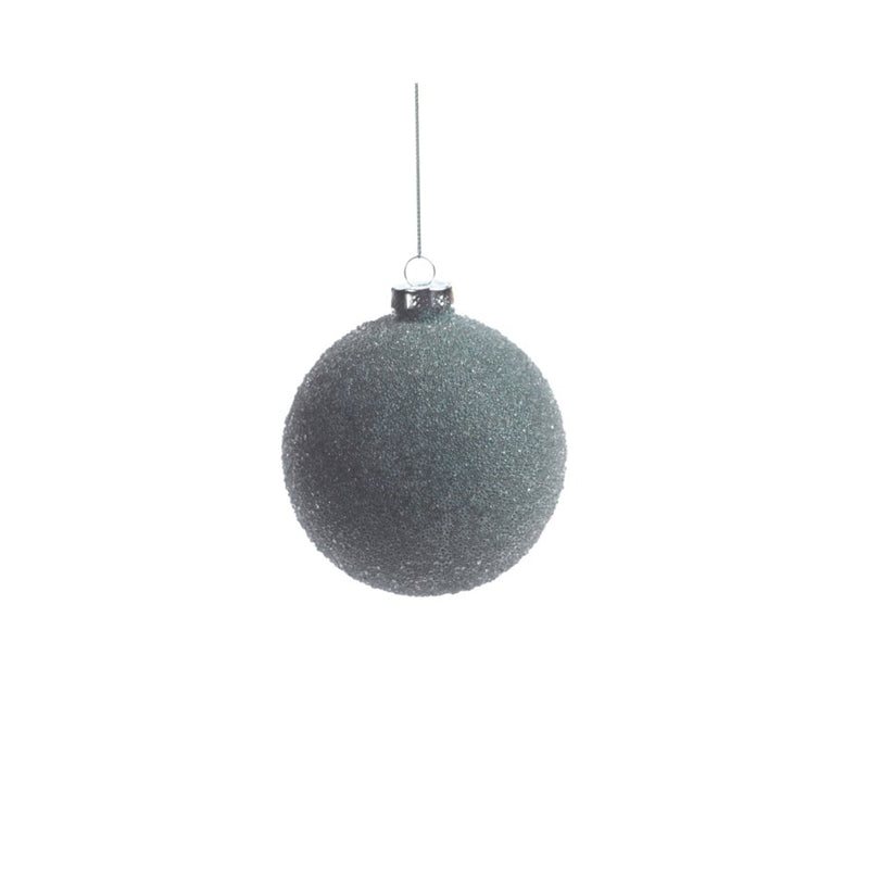 Frosted Green Beaded Ball Ornament