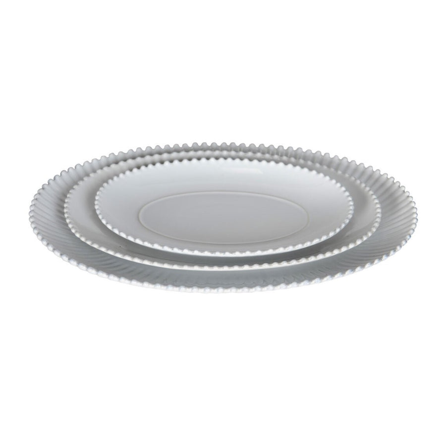 Medium Greenwich Pearl White Oval Platter