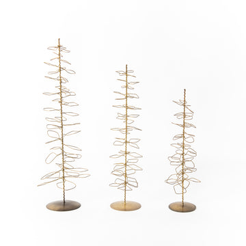 Antique Brass Wire Trees