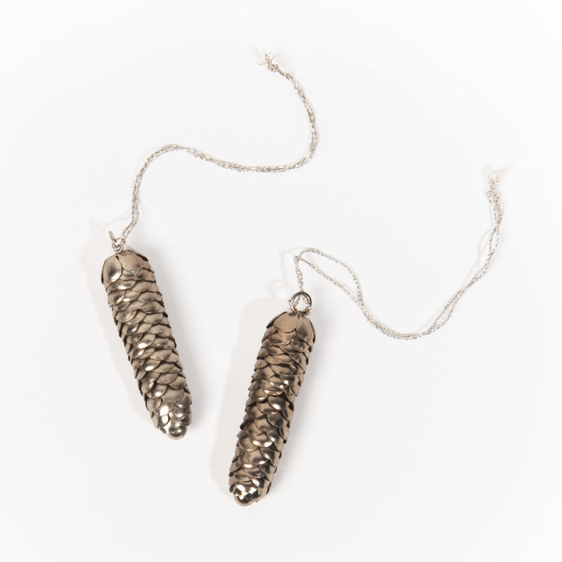 Pine Cone Brass Ornament