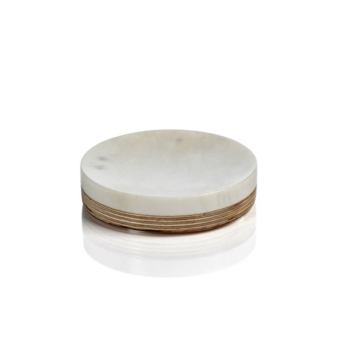 Singita Marble & Balsa Wood Soap Dish