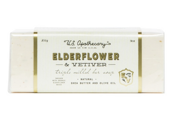 Elderflower + Vetiver Triple Milled Bar Soap