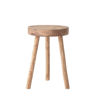Round Reclaimed Wood Stool