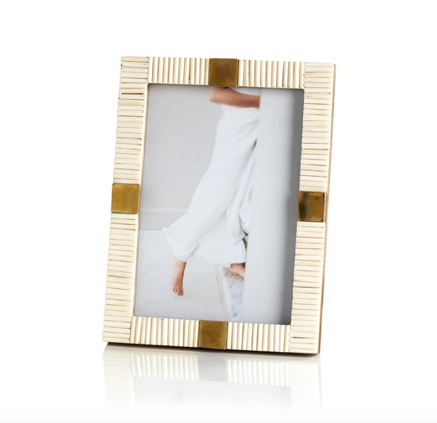 Maha Bone & Brass Photo Frame