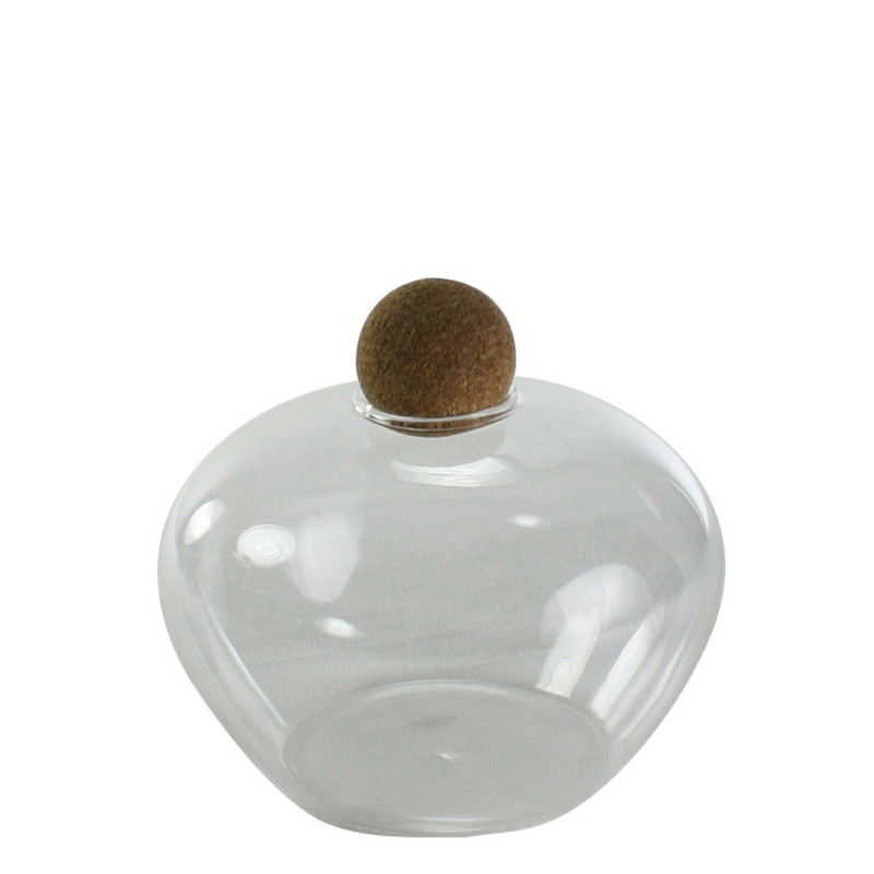 Jar with Cork Ball Stopper