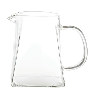 Lido Glass Pitcher with Square Base