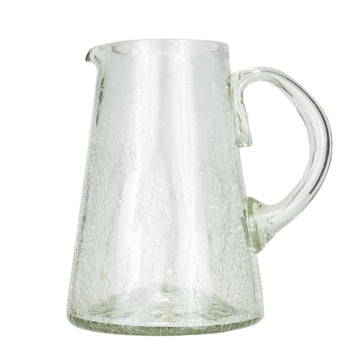 Clear Crackle Pitcher