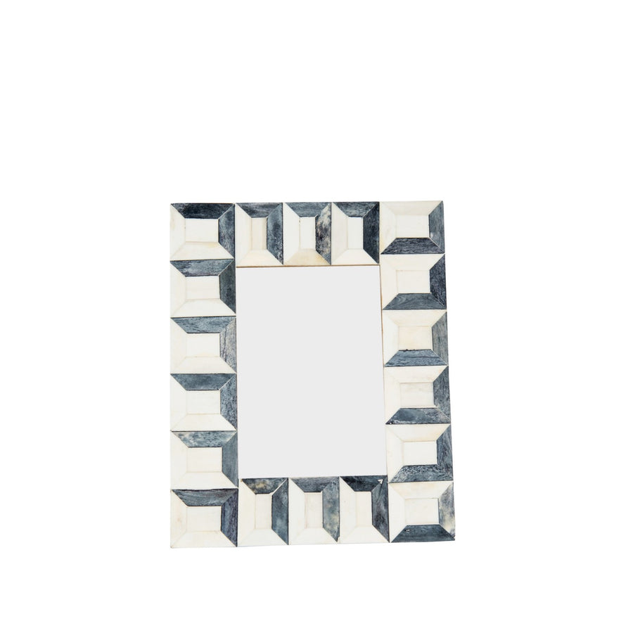 Grey Rectangles Bone Frame