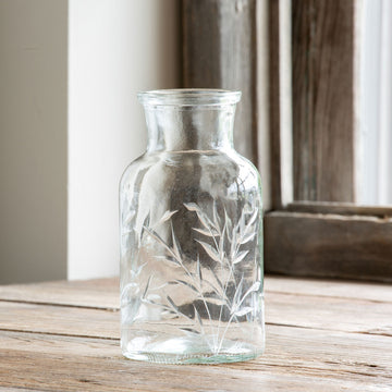 Savannah Etched Glass Apothecary Vase