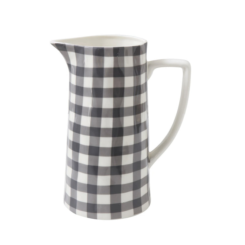 Jackson Gingham Stoneware Pitcher