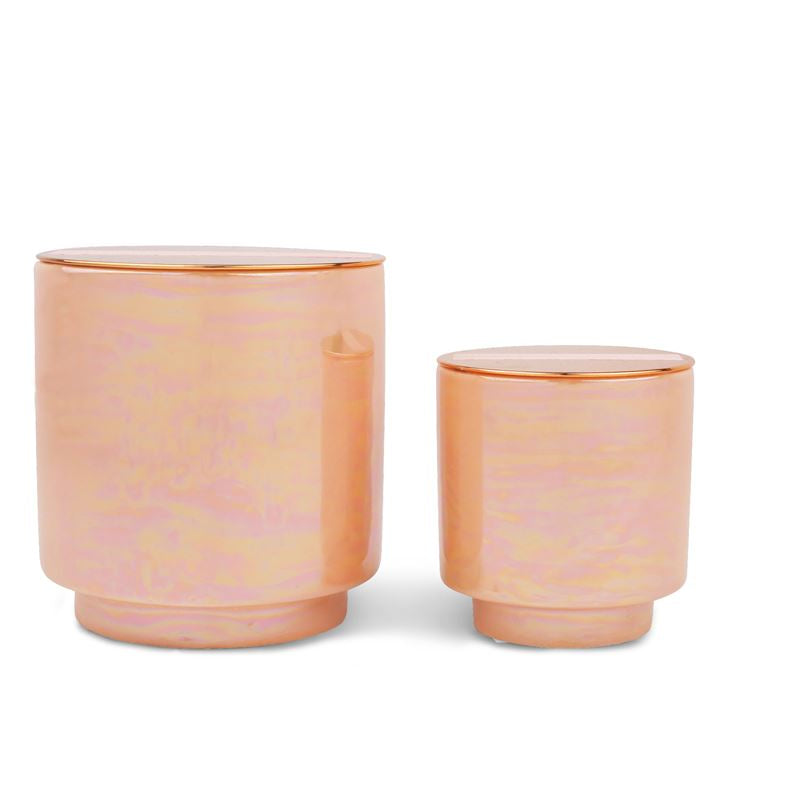 Rosewater + Coconut Candle with Copper Lid
