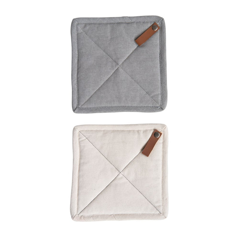 Leather Loop Square Pot Holder