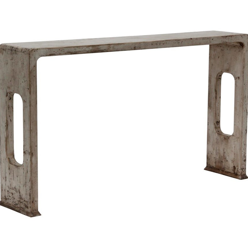 Macau White Console Table