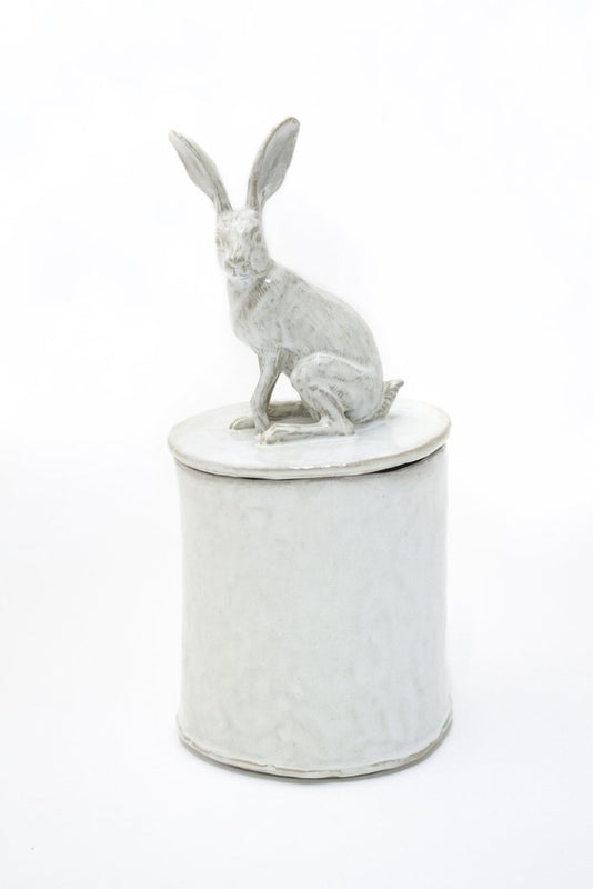 Sitting Rabbit Lidded Vessel