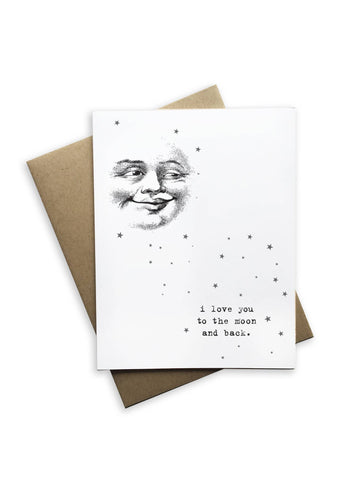 I Love You to the Moon notecard