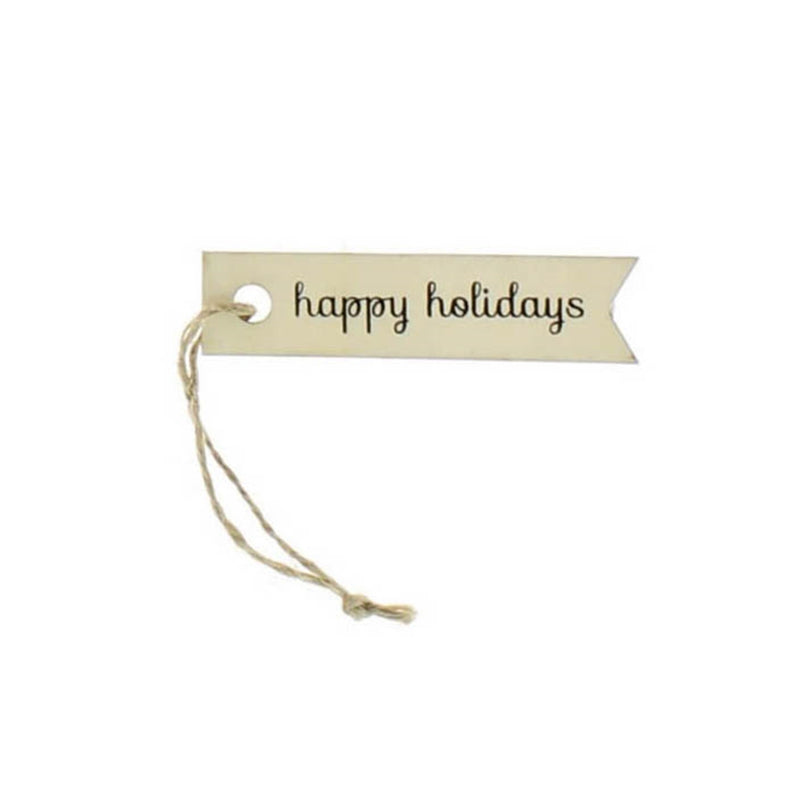 Wooden Holiday Tags