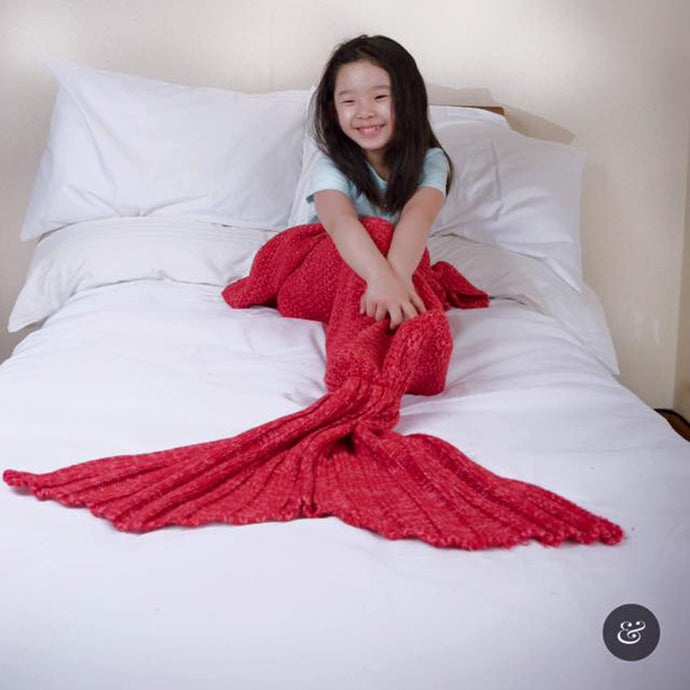 Snap & Snug Kids Mermaid Tail Blanket