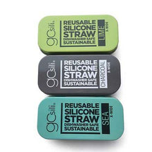 Load image into Gallery viewer, GoSili Reusable Wide Silicone Straw with Travel Tin Case