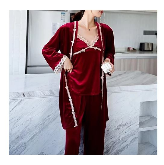 Feminism Clothing - 3pcs Robe Set