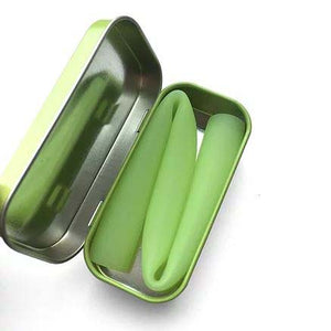 GoSili Reusable Wide Silicone Straw with Travel Tin Case