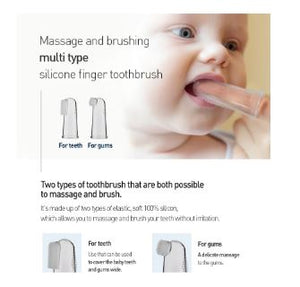 Mother-K Silicone Finger Toothbrush Set