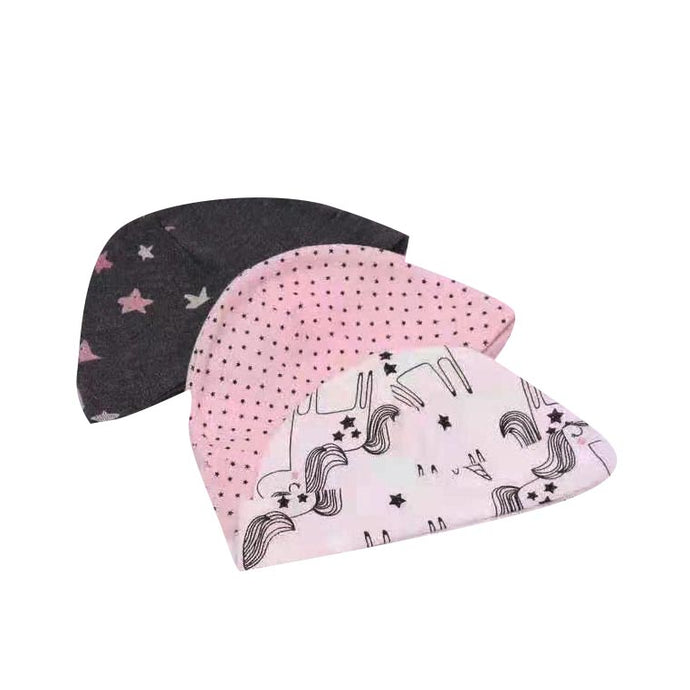 Carter Liebe 3pcs. Newborn Cotton Hat Set