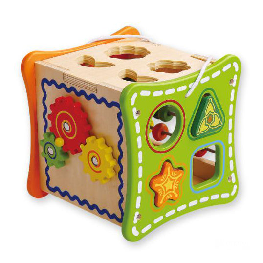 Wooden 5 in 1 Learning Cube