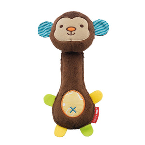 Soft Toy Animal Squeeze Me Rattle Monkey