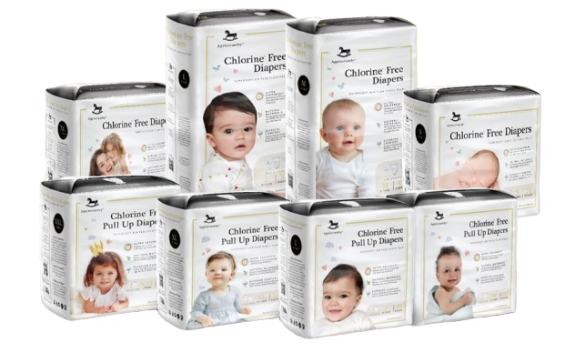 Applecrumby Chlorine Free Pull Up Diapers