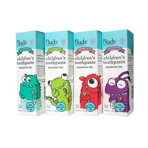 Buds Children's Toothpaste With Fluoride (3-12 years old)