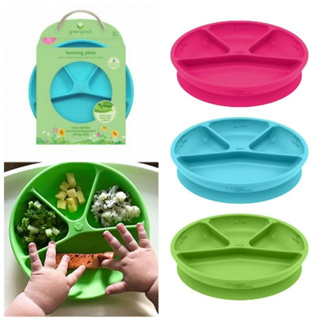 Green Sprouts Silicone Learning Plate