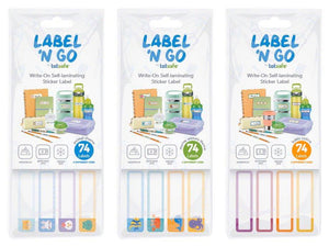 Totsafe Label 'N Go Write On Self-Laminating Stickers 74's
