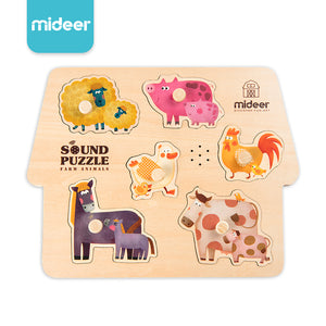 Mideer Sound Puzzle Farm Animals