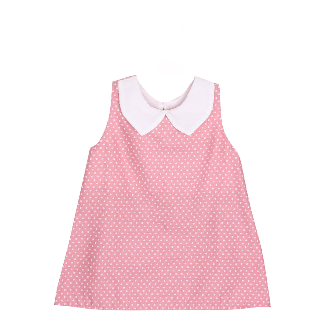 Adorable Baby Girls Kids Polka Dots Top Blouse w/ Collar
