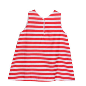 Adorable Baby Girls Kids Stripes Top Blouse w/ Collar