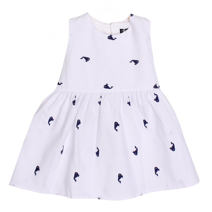 Adorable Baby Girls Kids Whale Dress